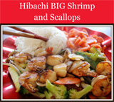 Hibachi BIG Shrimp and Scallops