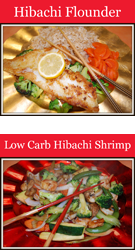 Hibachi Flounder, Low Carb Hibachi Shrimp