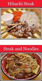 Hibachi Steak, Hibachi Steak and Tokyo Noodles